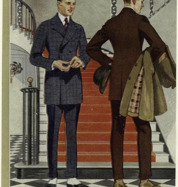 Hart Schaffner Marx catalog images from the 1920s