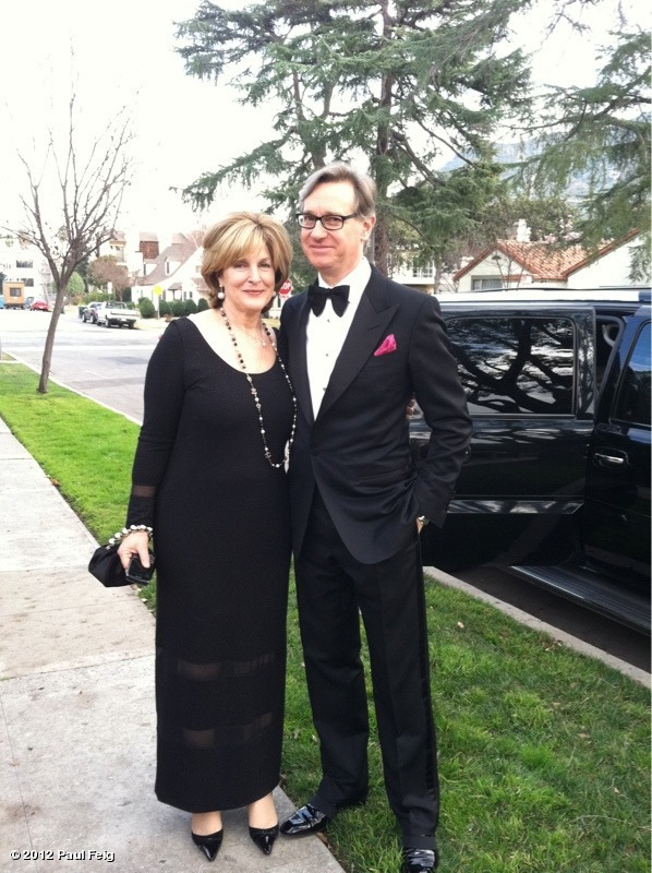Our pal Paul Feig on his way to the Golden Globes