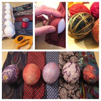 dye easter eggs with silk neckties