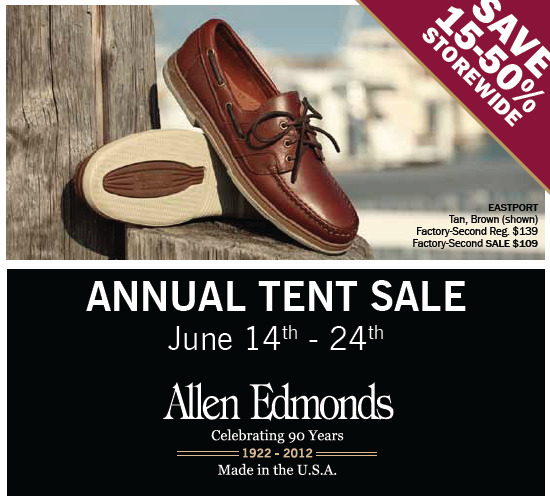 Allen Edmonds' Tent Sale