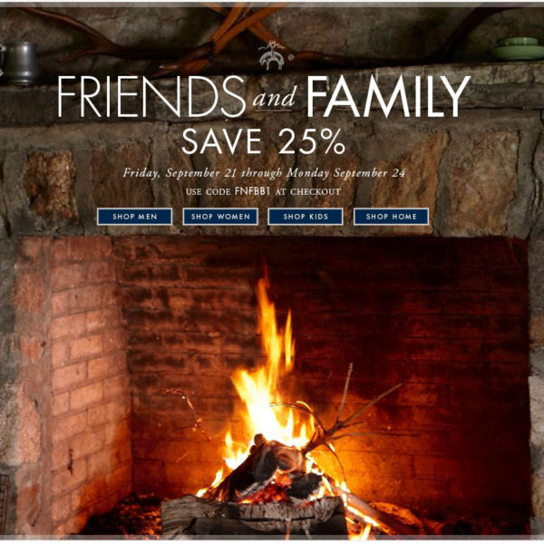Brooks Brothers launched their Friends & Family sale today