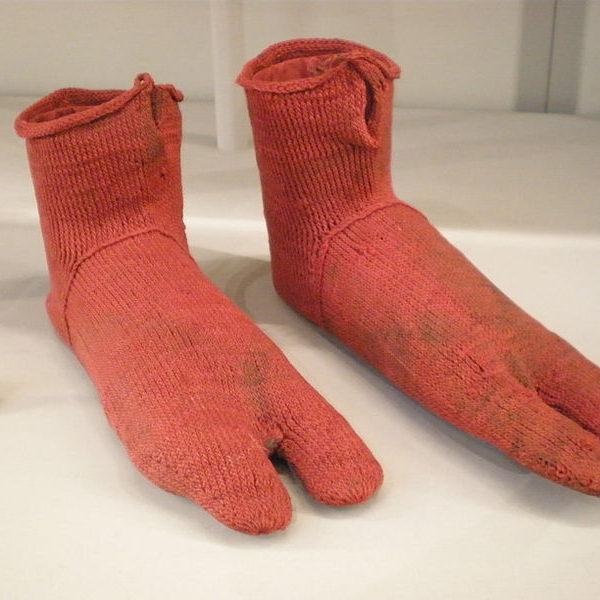 Ancient Egyptian socks, circa 250-420 AD