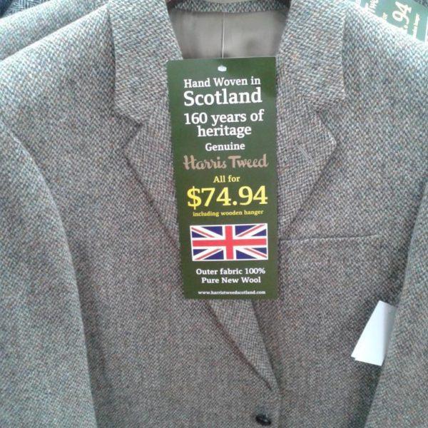 $75 Harris Tweed jackets at Walmart