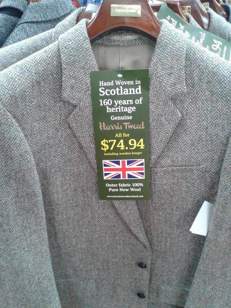 $75 Harris Tweed jackets at Walmart
