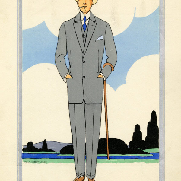1920s men's fashion illustrations