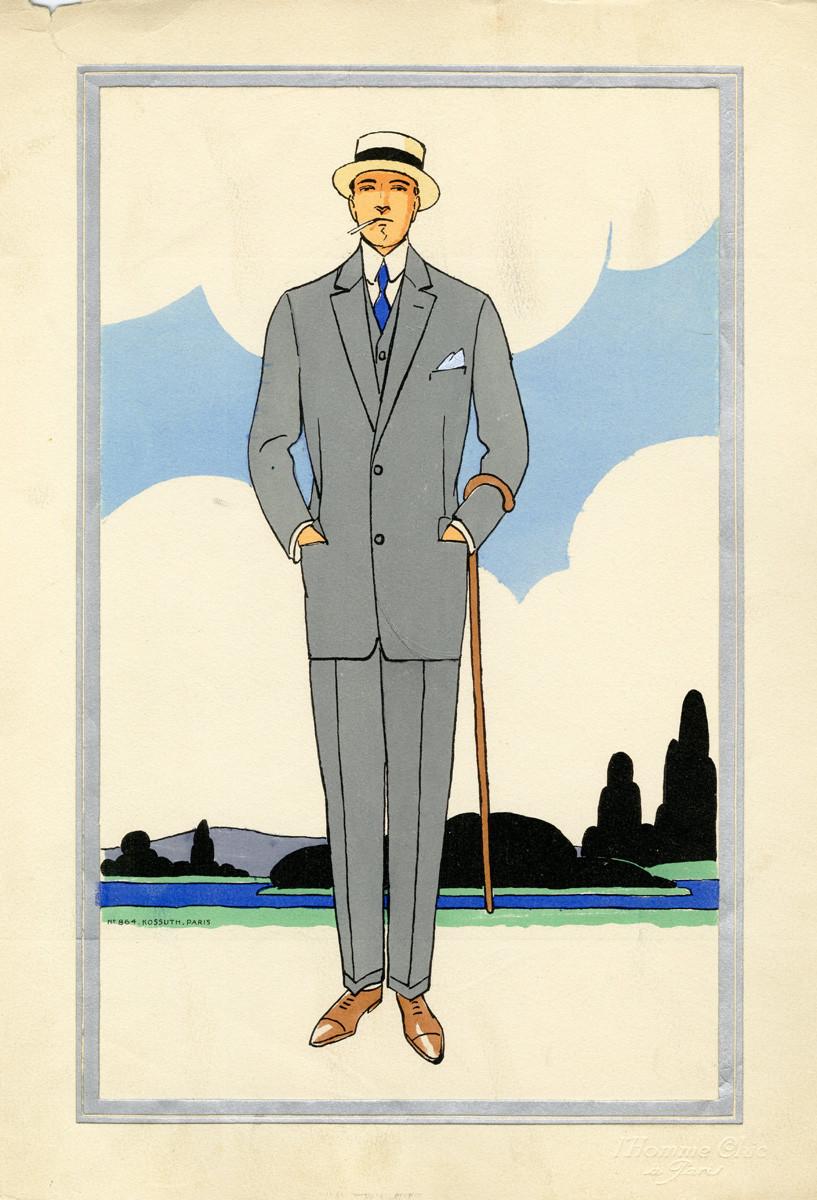 1920s men's fashion illustrations