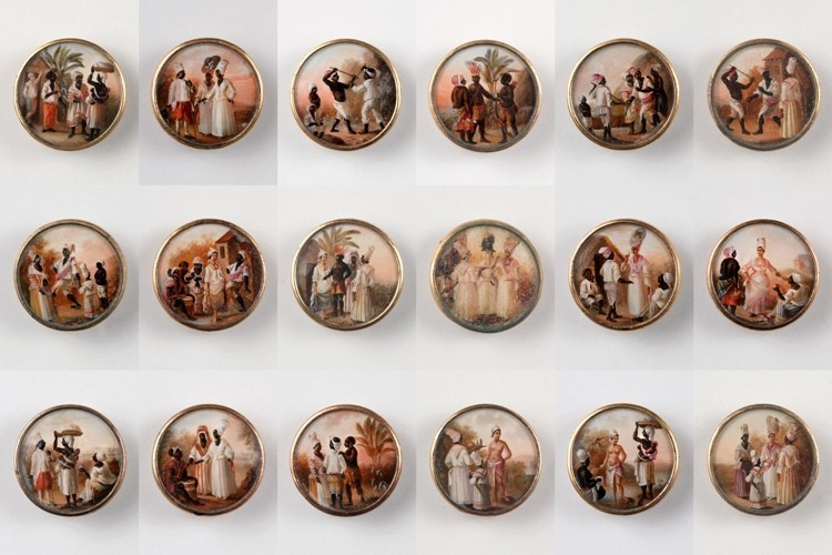 Who would wear paintings as buttons?