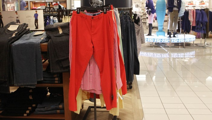 Man Purchasing Pair of Red Pants Better Be Willing To Put Up Or Shut Up