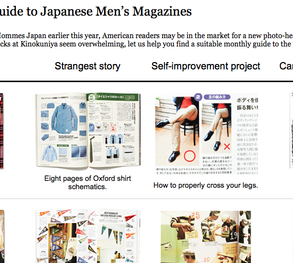 A guide goofing on Japanese men's magazines