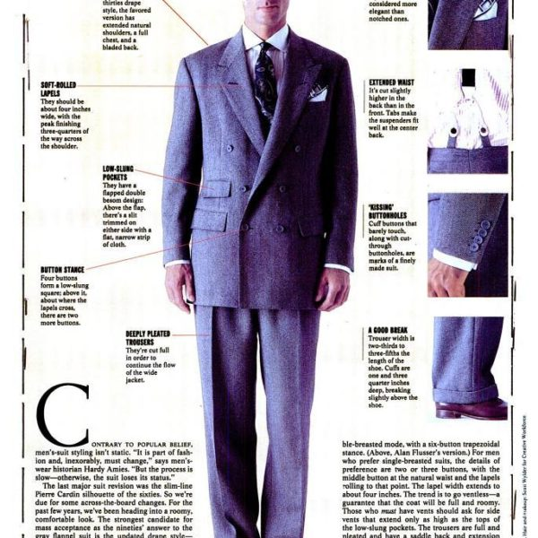 The Eighties Drape Suit