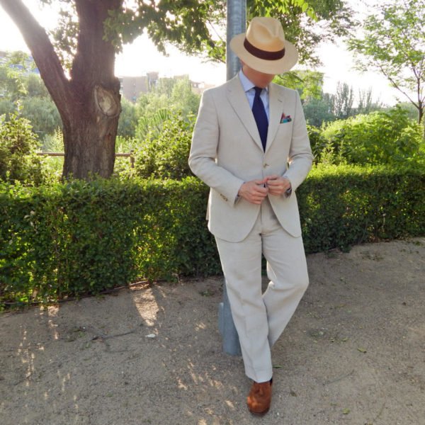 Real People: Cream Linen Suits