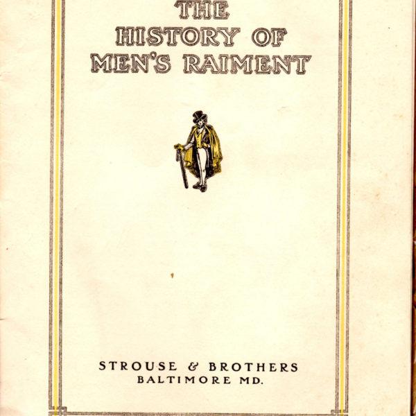 The History of Men's Raiment: Spring & Summer, 1912
