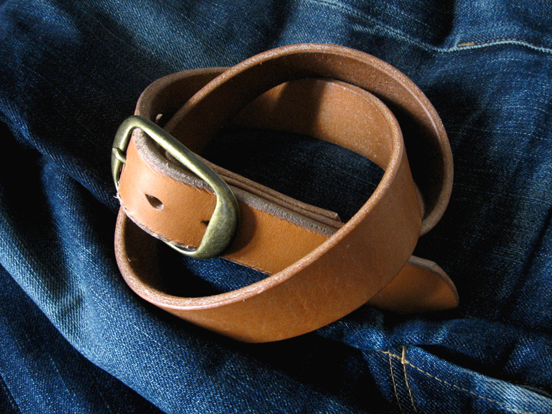 The Beauty of a Naturally Aged Leather Belt