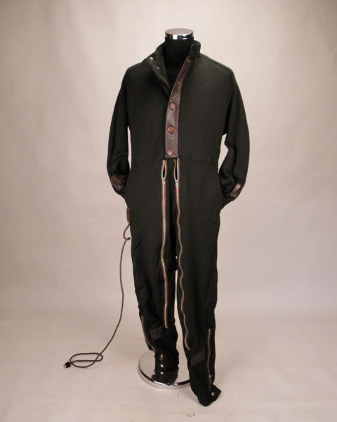electrically-heated, wool flying suit from France