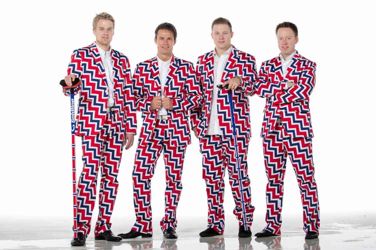 The Norweigan curling team will be wearing crazy outfits again this year
