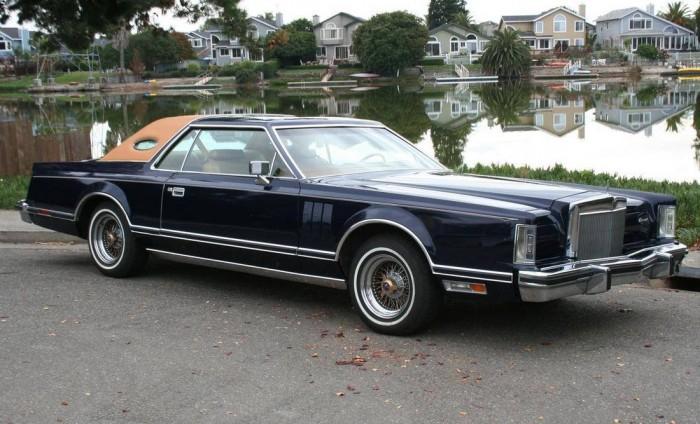 1979 lincoln continental mark v bill blass designer & engine sound.