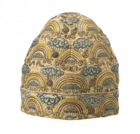 Incredible embroidered silk nightcap