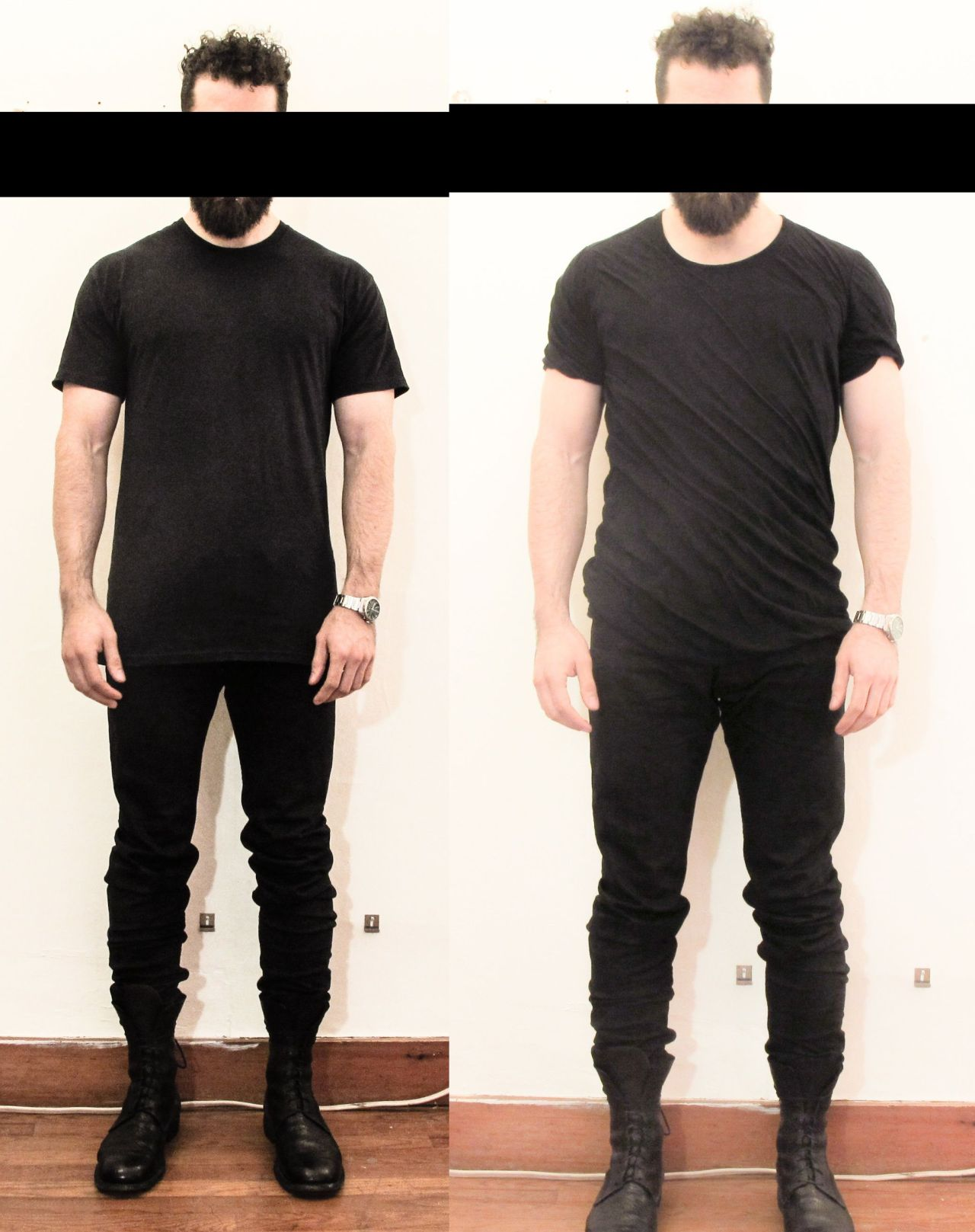 the difference between a $450 black t-shirt from Rick Owens and a $5 black t-shirt from Hanes
