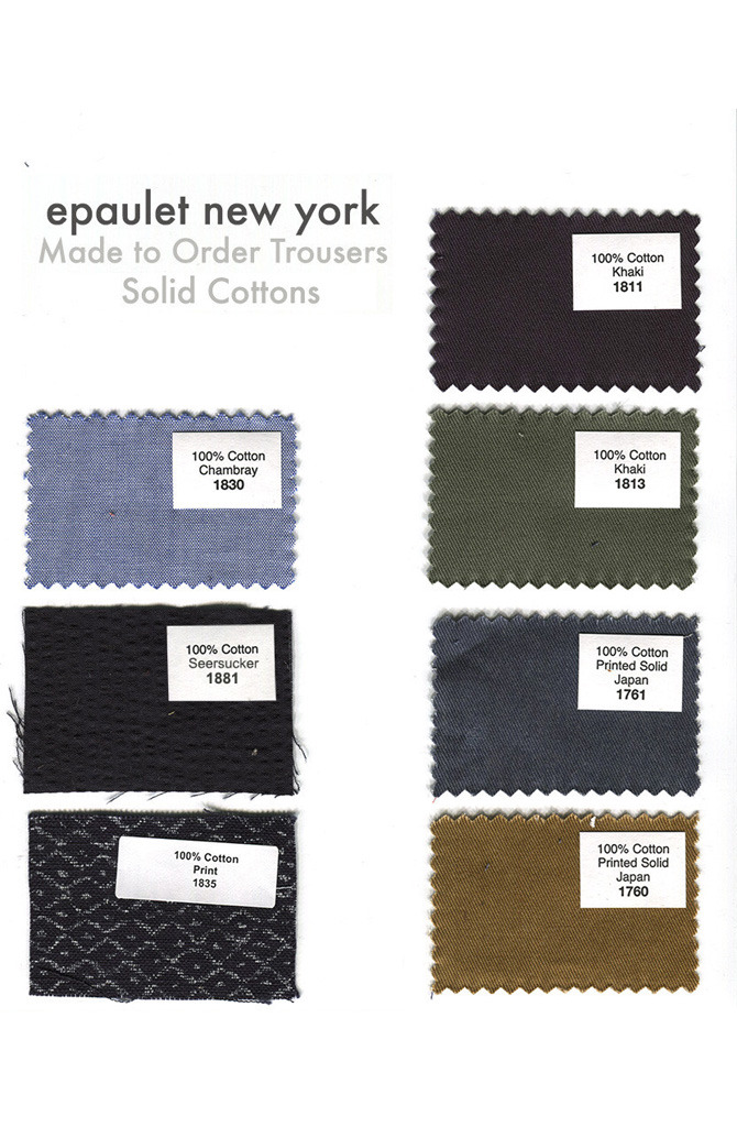 Epaulet's Made-to-Order Trousers