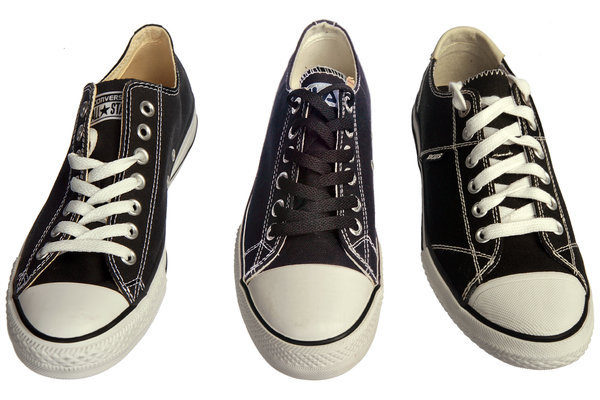 The shoe on the left is by Converse
