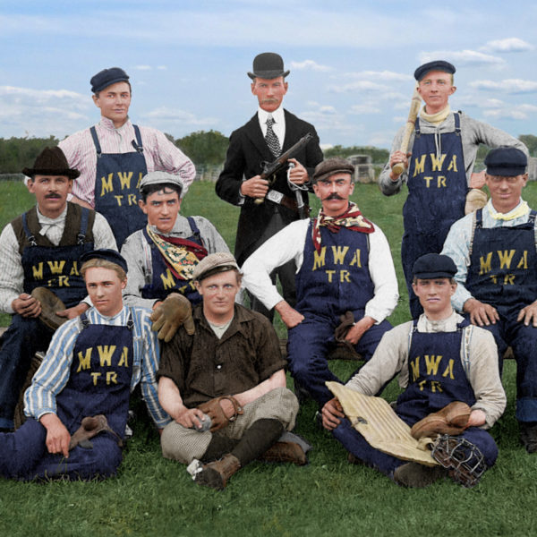 The Modern Woodsmen of America baseball team, Two Rivers, Wisconsin, circa 1900