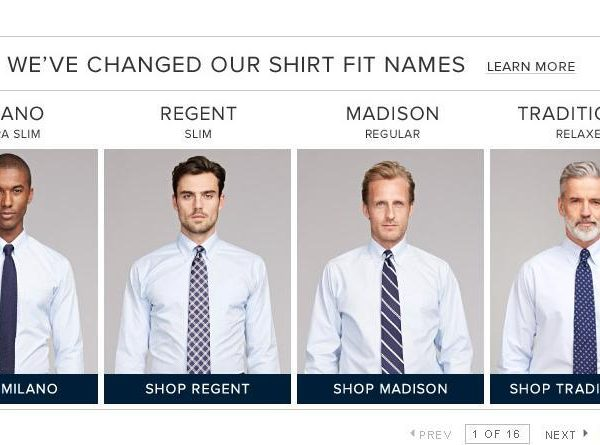 Brooks Brothers Changes Shirt Fit Names from Words That Mean Something to Words That Don't Mean Anything