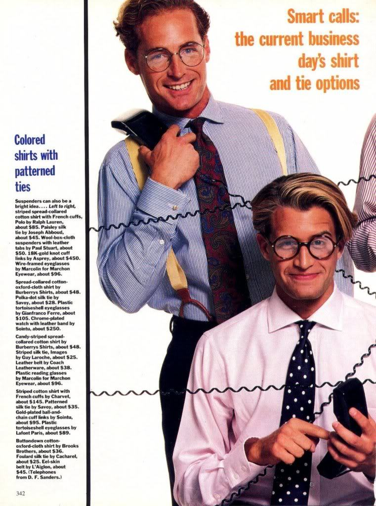 These Phones Are Horribly Dated; These Shirt/Tie Combinations Are Not