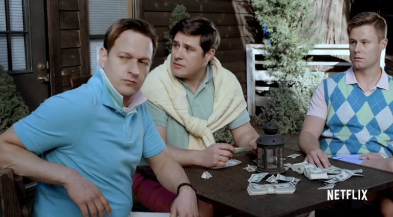 Josh Charles, Rich Sommer and Eric Nenninger at the presentation of their neo-prep line