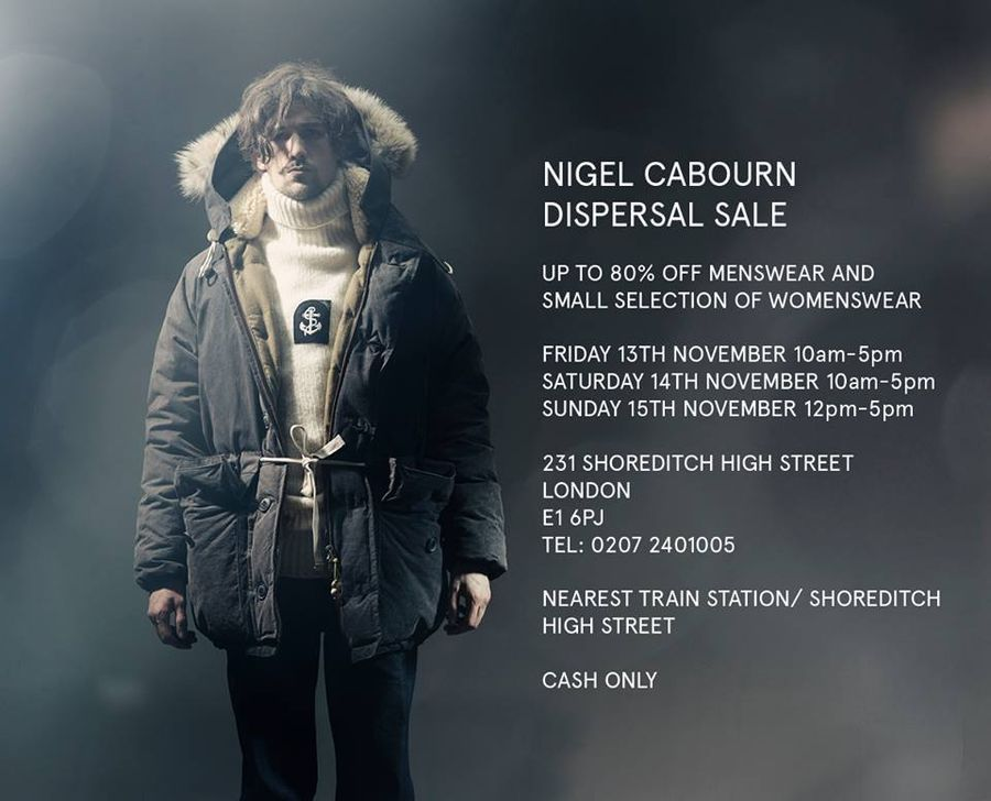 Nigel Cabourn Warehouse Sale