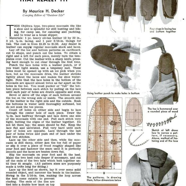 Make Your Own Moccasins (1937)