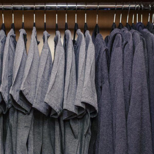 a photograph of Mark Zuckerberg's closet