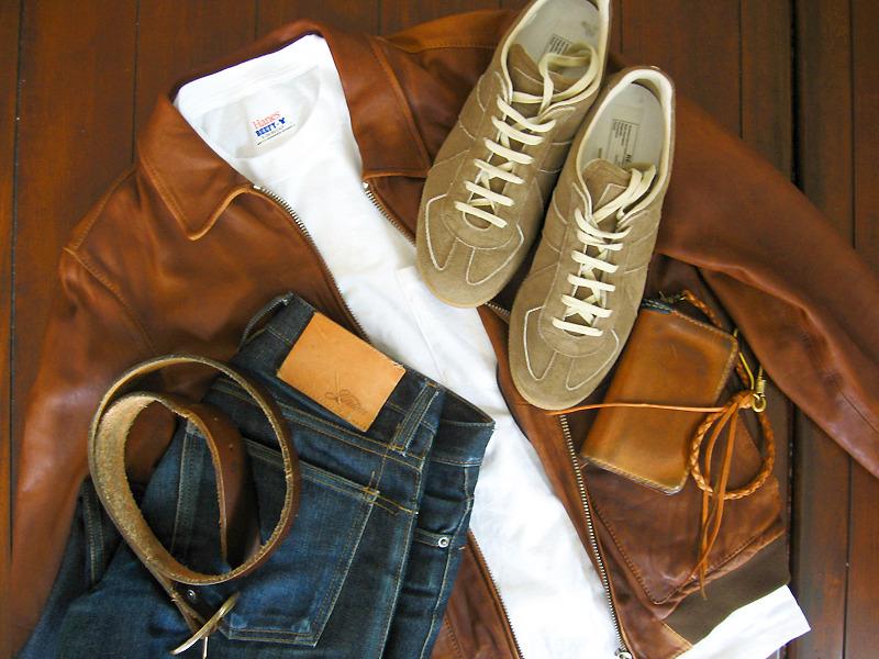 White Tee + Denim + Leather