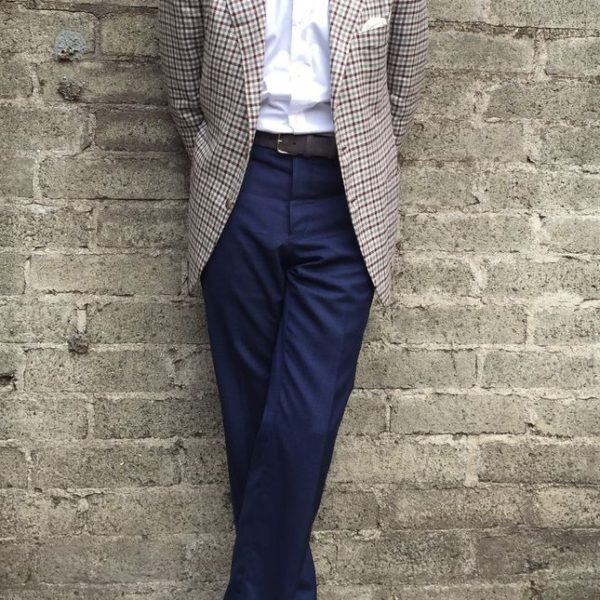 Real People: Wearing Navy Trousers