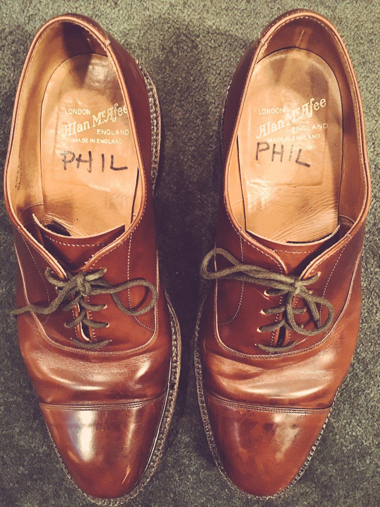 Phil Hartman's shoes, in SNL's wardrobe department.