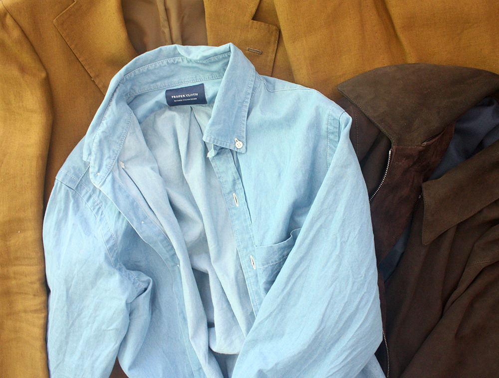 Proper cloth s washed denim shirts put this on for Proper cloth custom shirt price