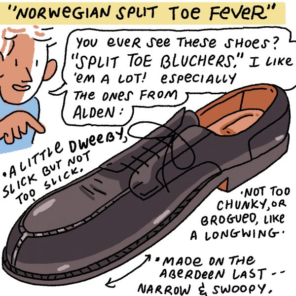 Style & Fashion Drawings: Norwegian Split Toe Fever