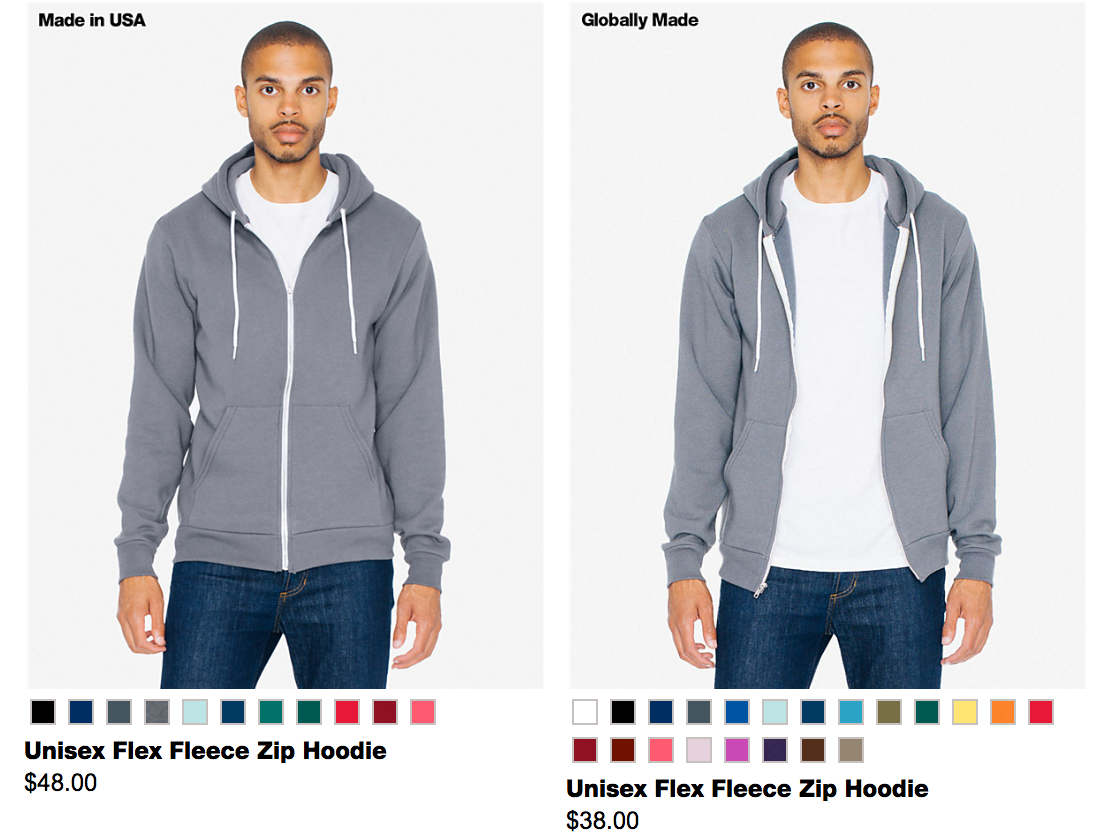American Apparel Asks if You Want to Pay More for the Same Thing
