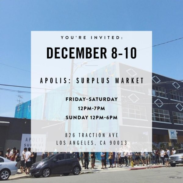 Apolis LA Sample Sale