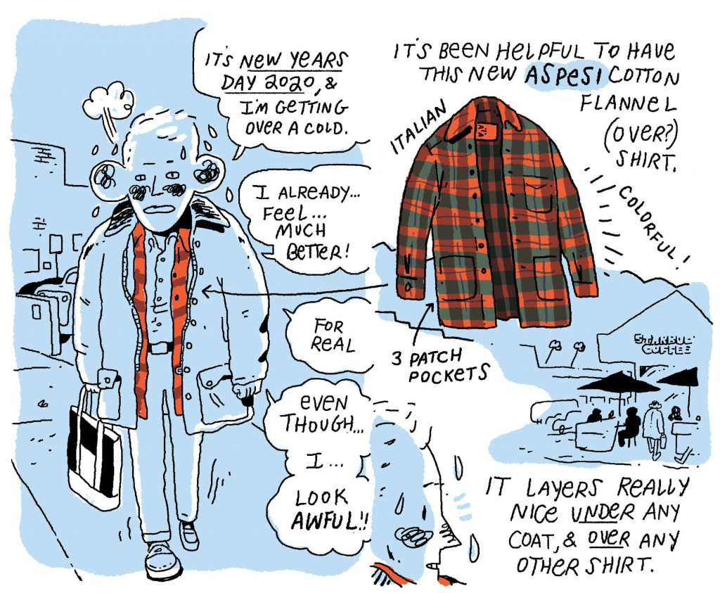 Style & Fashion Drawings: The Useful Overshirt