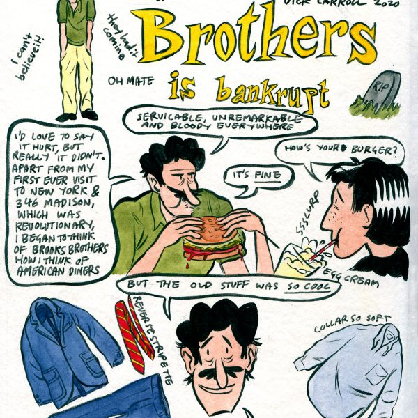 Style & Fashion Drawings: Brooks Brothers is Bankrupt